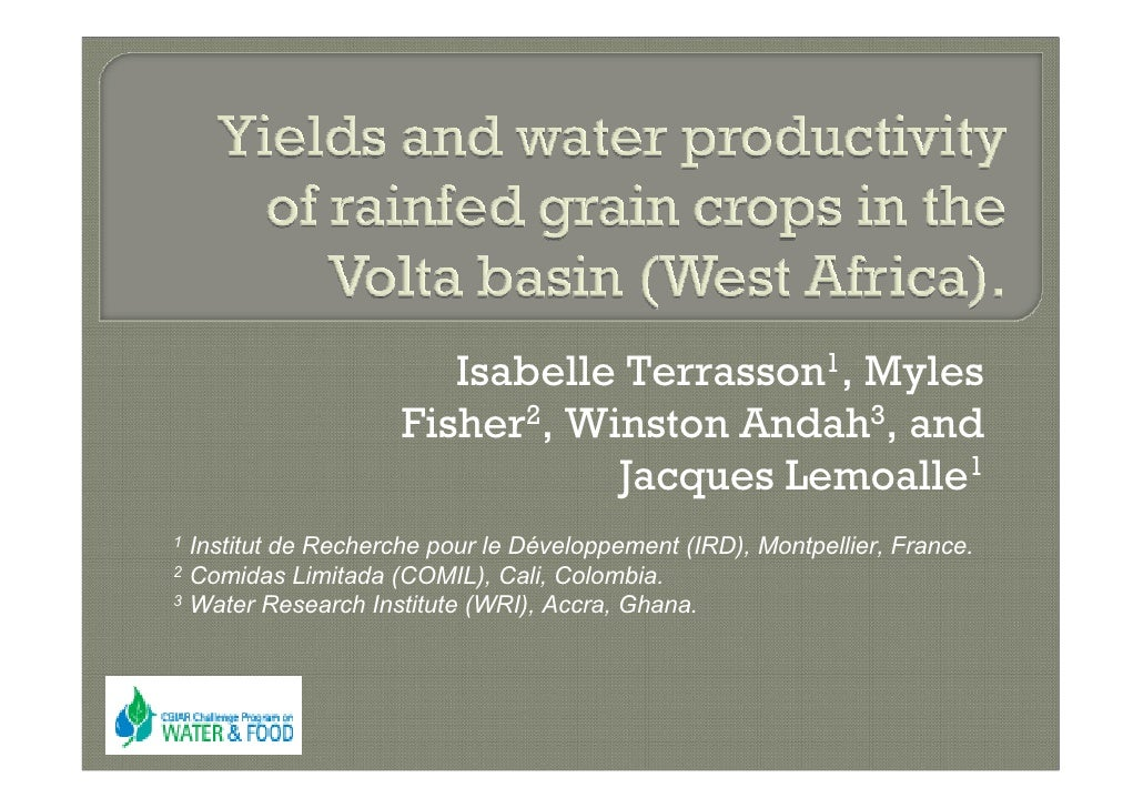 Isabelle Terrasson1, Myles                     Fisher2, Winston Andah3, and                                Jacques Lemoall...