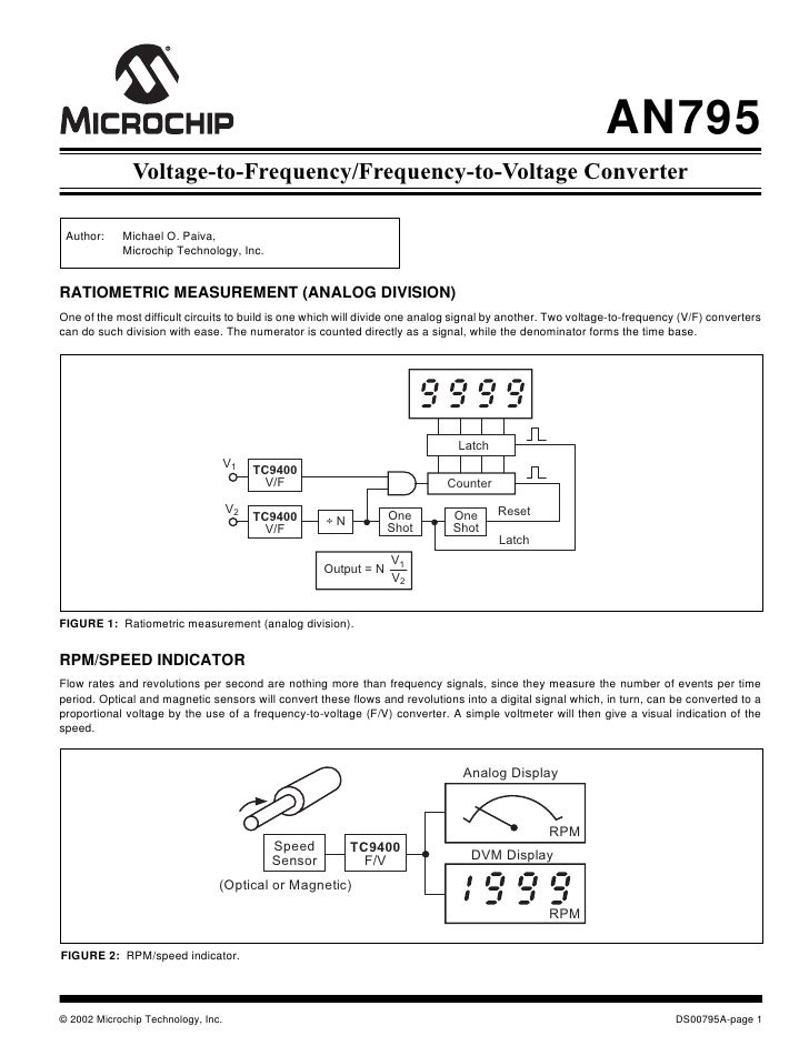 AN795              Voltage-to-Frequency/Frequency-to-Voltage Converter Author:    Michael O. Paiva,            Microchip T...