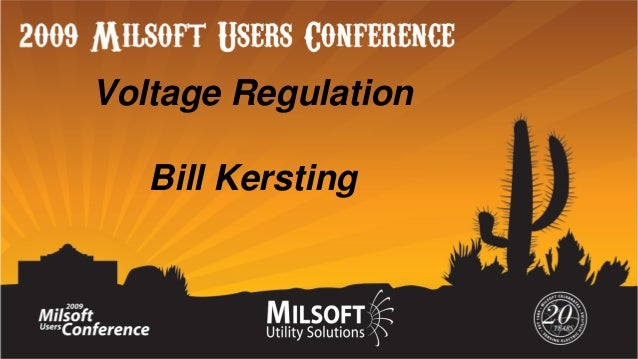 Voltage Regulation Bill Kersting