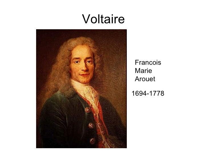 Voltaire 1694-1778 Francois Marie Arouet