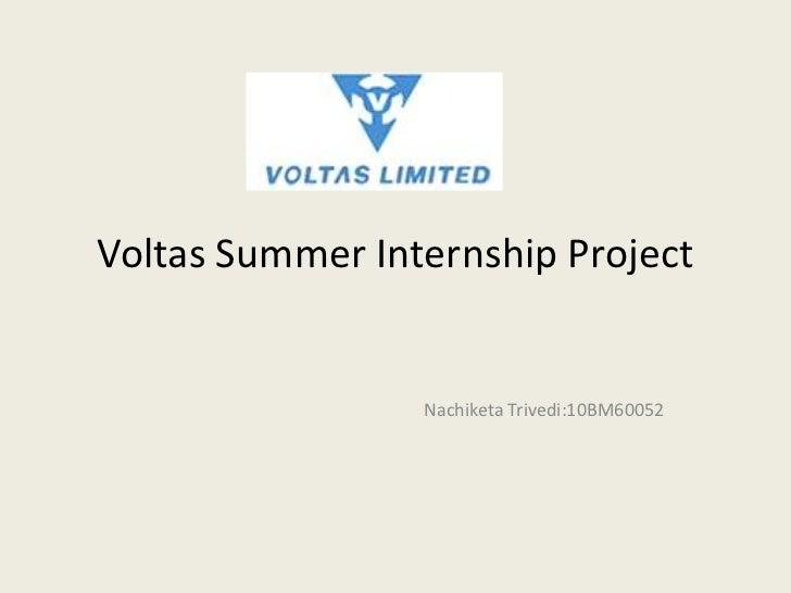 Voltas summer internship project