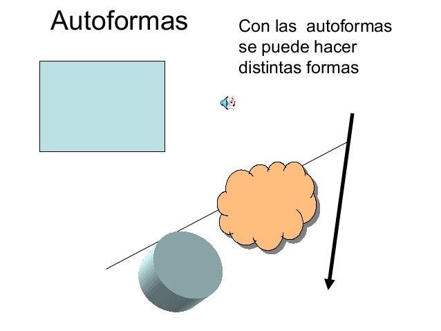 Autoformas Con las autoformasse puede hacerdistintas formas