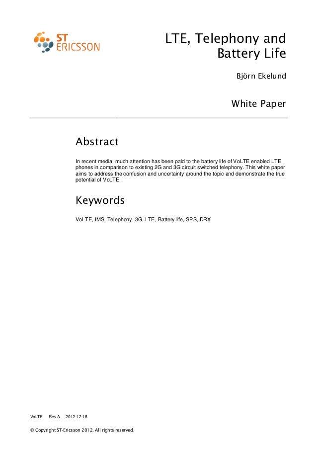 Vo lte power consumption white papper