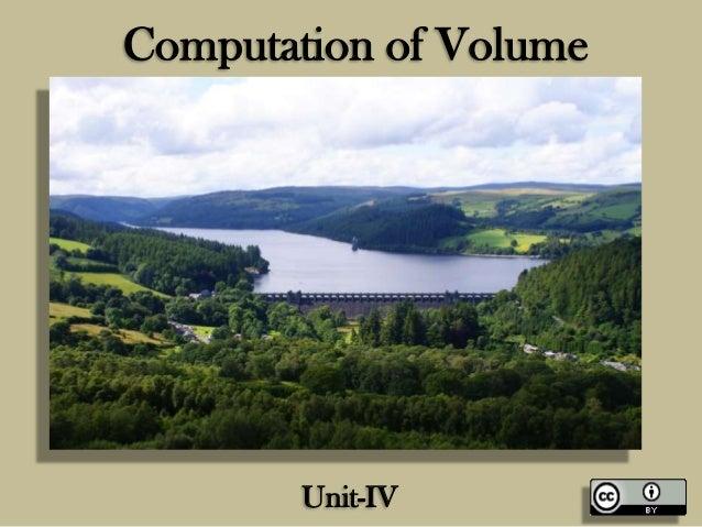 Computation of Volume  Unit-IV