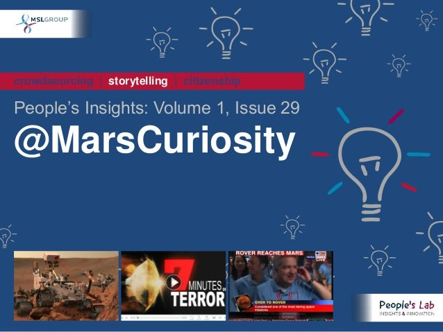 "crowdsourcing | storytelling | citizenship People""s Insights: Volume 1, Issue 29 @MarsCuriosity"