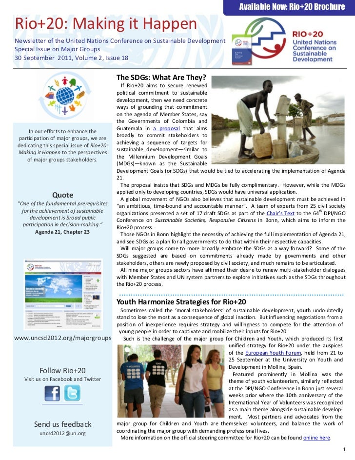 Rio +20 - Newsletter: Volume 2, issue 18 (30 september 2011)