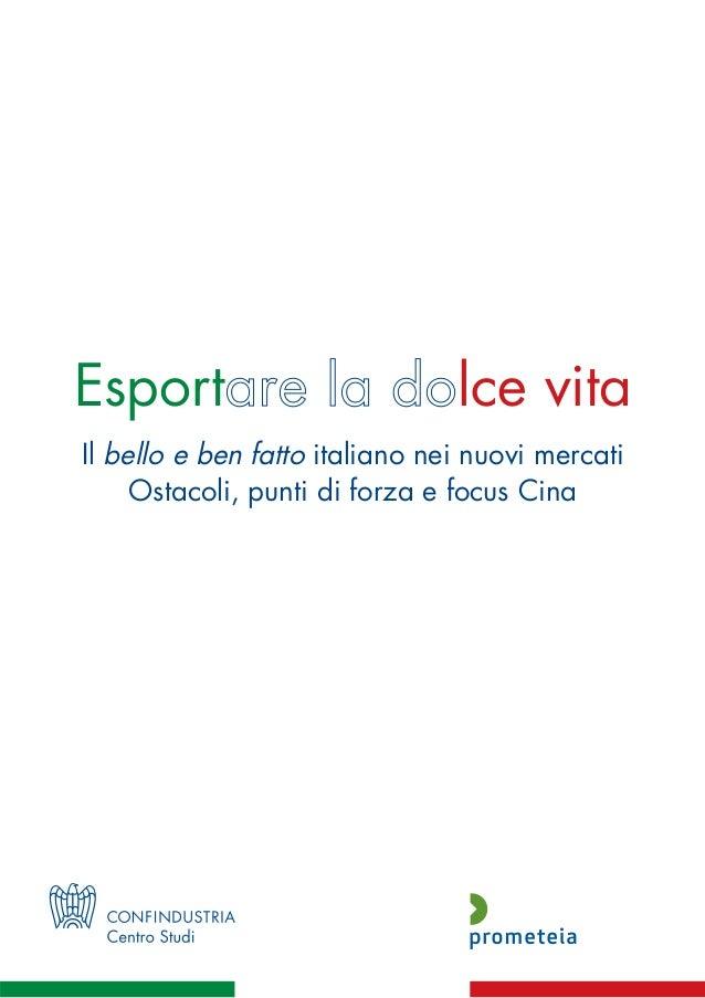 Esportare la dolce vita 2013
