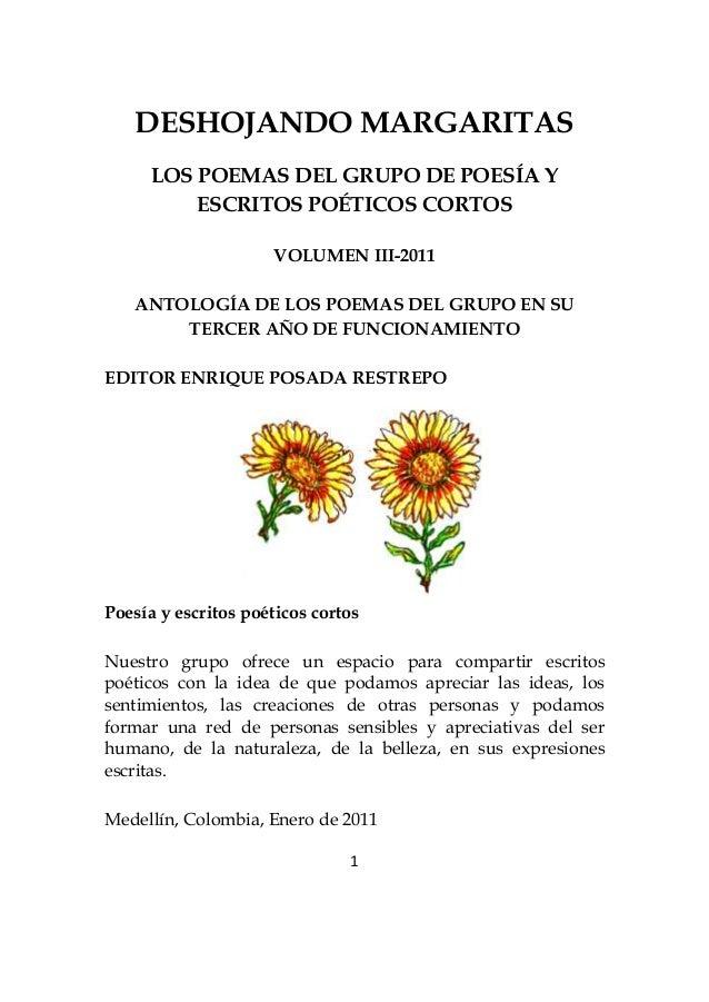 Deshojando Margaritas - Volumen 3 grupo poesía y escritos poéticos