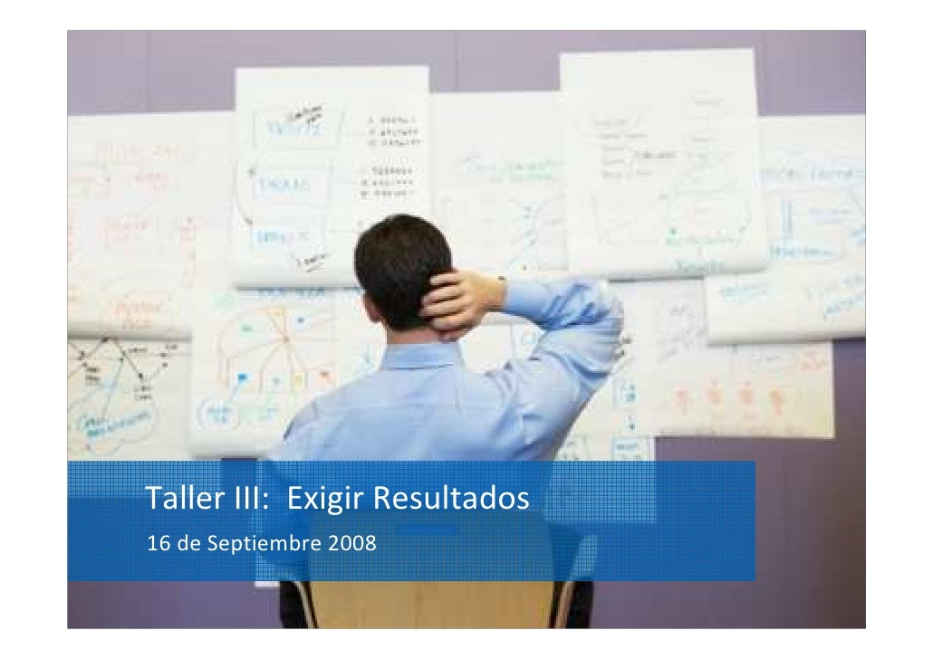 Taller III: Exigir Resultados 16 de Septiembre 2008                                 YOUR LOGO