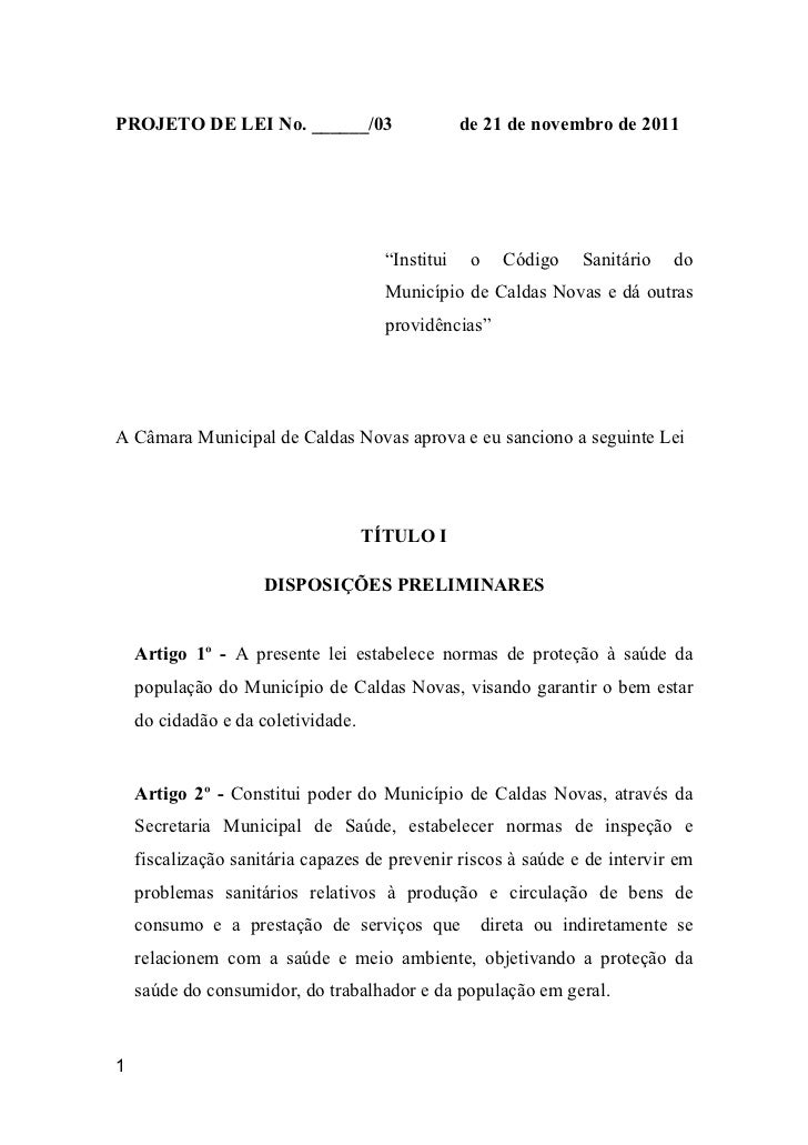 """PROJETO DE LEI No. ______/03                      de 21 de novembro de 2011                                      """"Institui..."""