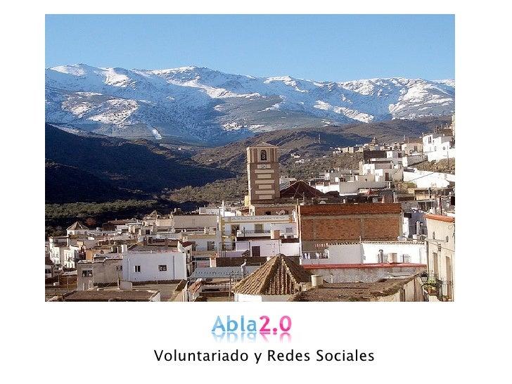 Abla 2.0 - Voluntariado y Redes Sociales rurales