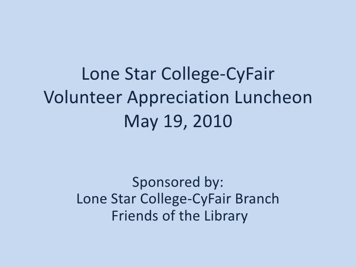 Volunteer Appreciation Luncheon
