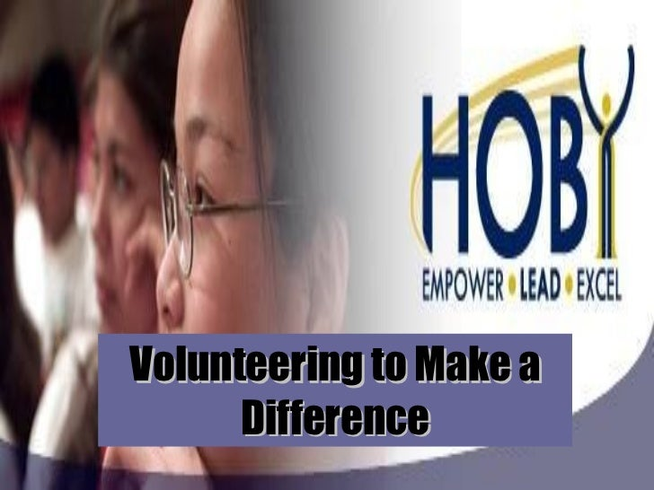 Volunteering to Make a Difference