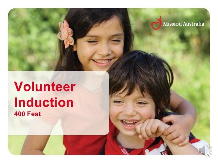 Volunteering at 400 fest - online induction