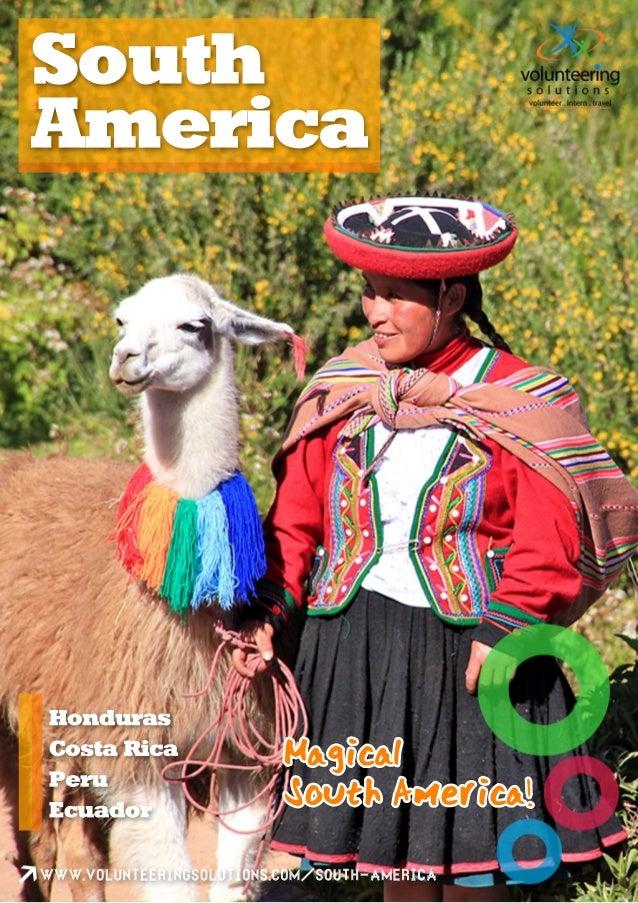 Volunteering solutions brochure About Volunteer Programs in South America