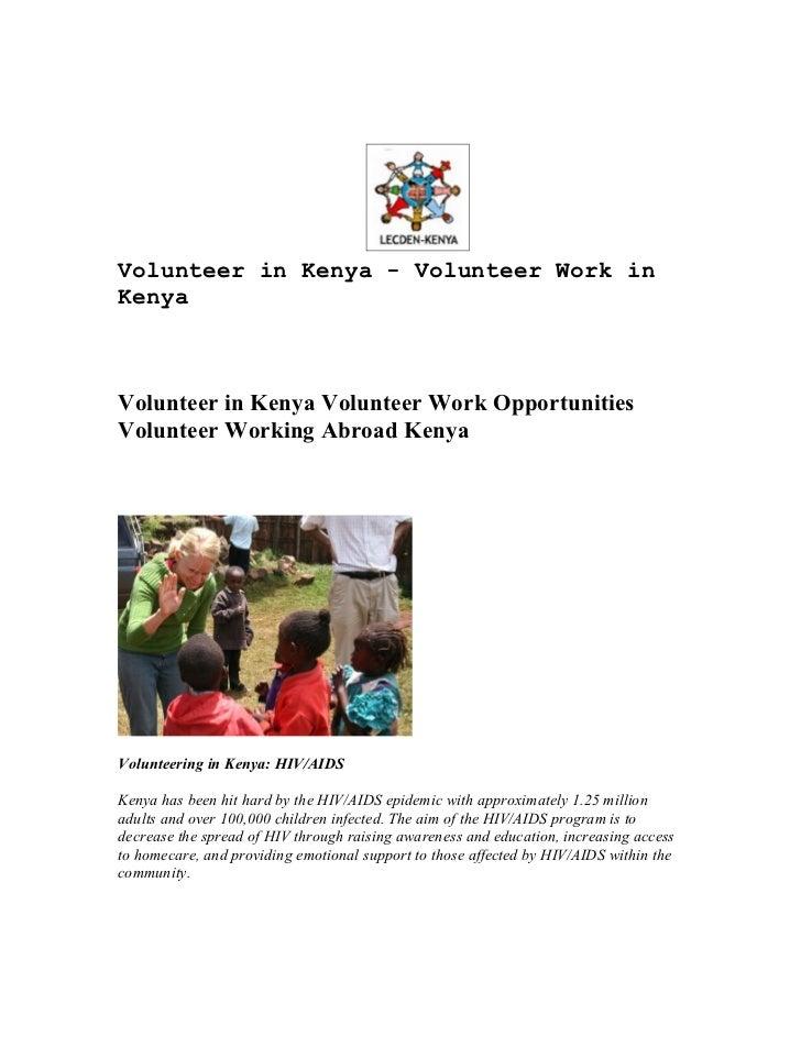 Volunteer in Kenya - Volunteer Work inKenyaVolunteer in Kenya Volunteer Work OpportunitiesVolunteer Working Abroad KenyaVo...
