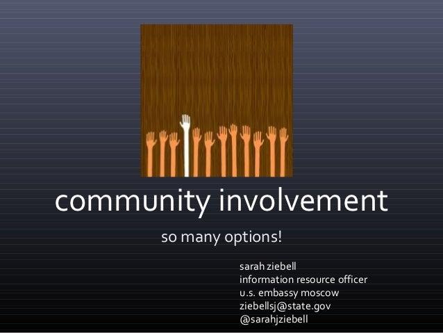 Community Involvement: So Many Options!