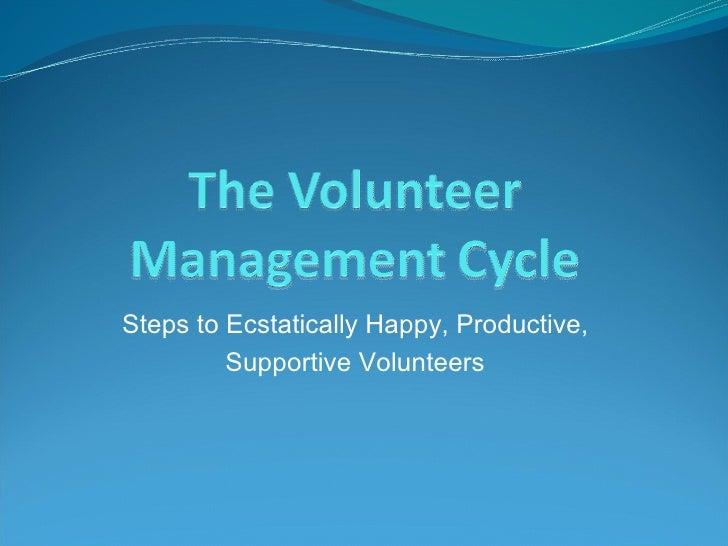 Volunteer Management 2011