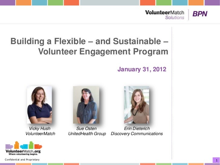 Building a Flexible – and Sustainable –           Volunteer Engagement Program                                            ...