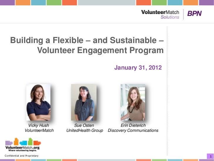 VolunteerMatch Solutions BPN Webinar: Building a Flexible - and Sustainable - Volunteer Engagement Program