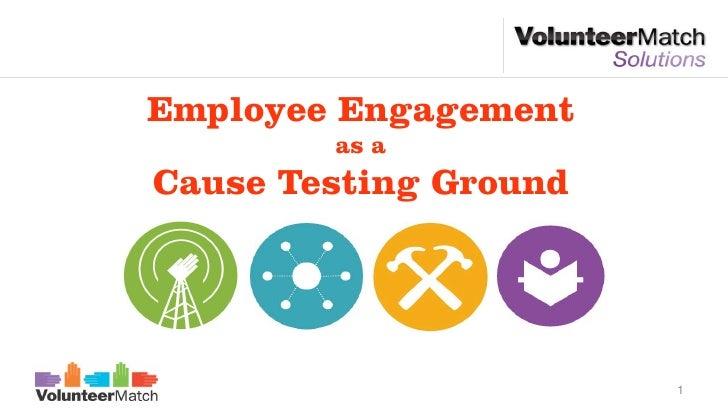 Employee Engagement        as aCause Testing Ground                       1