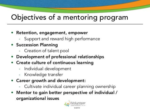 Introducing A Volunteer Mentoring Program Part I