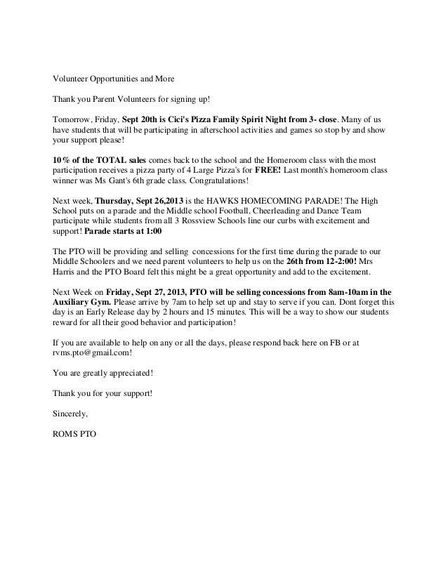 Volunteer opportunities and more 9 19-2013