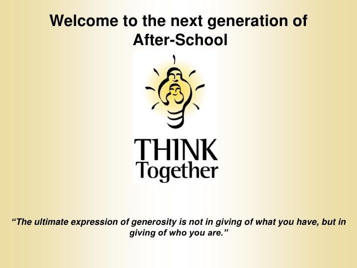 THINK Together Volunteer Orientation