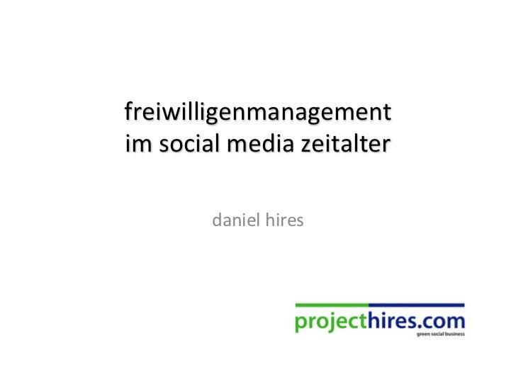 freiwilligenmanagement im social media zeitalter - startsocial