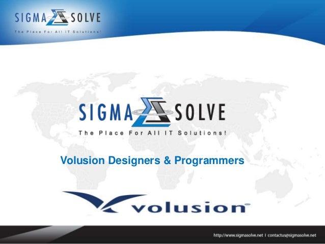 Volusion Designers & Programmers