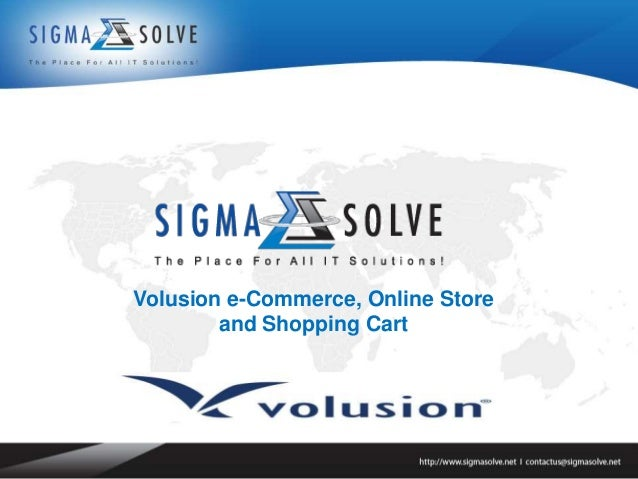 Volusion e-Commerce, Online Store        and Shopping Cart