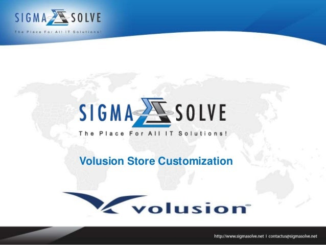 Volusion Store Customization