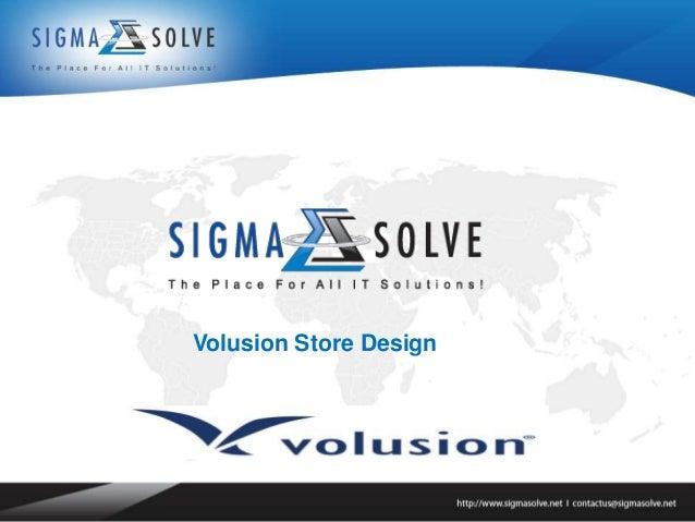 Volusion Store Design