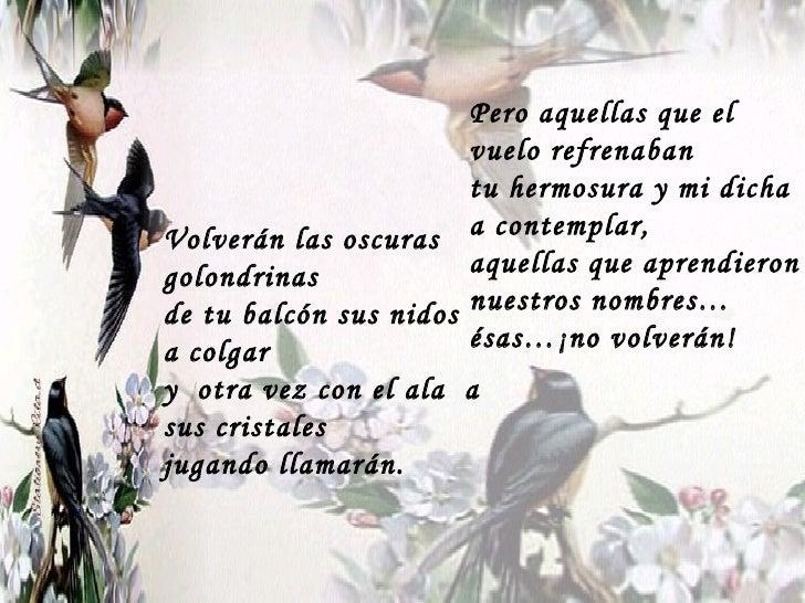 Gustavo Adolfo BecQuer oscuras golondrinas