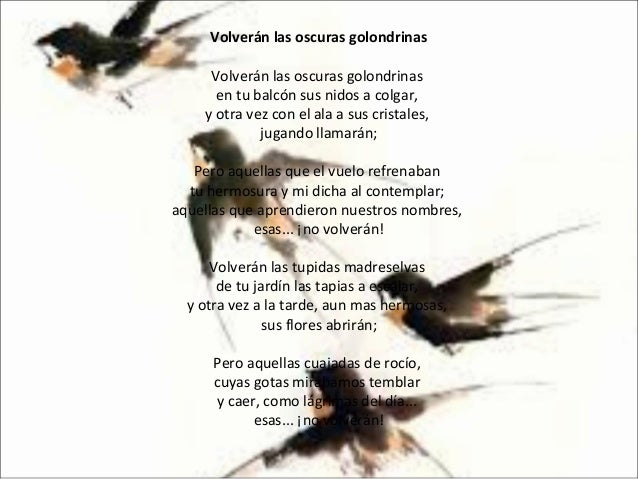 Gustavo Adolfo BecQuer golondrinas poema