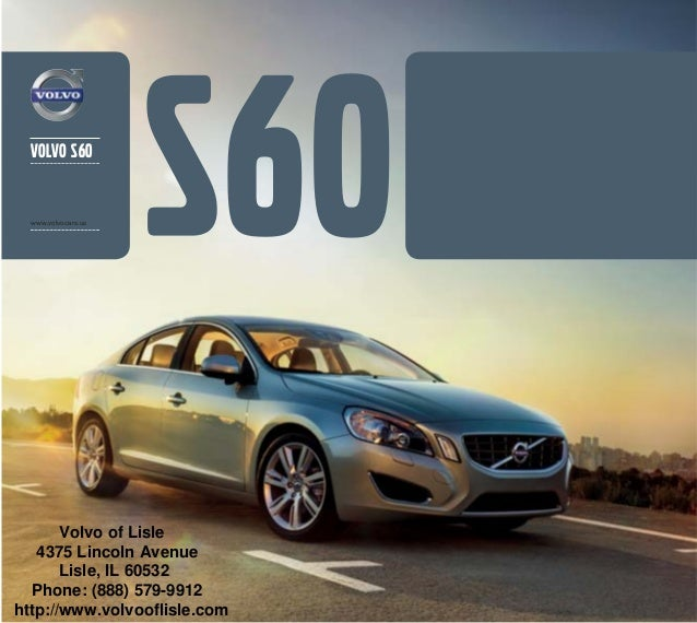 2013 volvo s60 brochure chicago volvo dealer. Black Bedroom Furniture Sets. Home Design Ideas