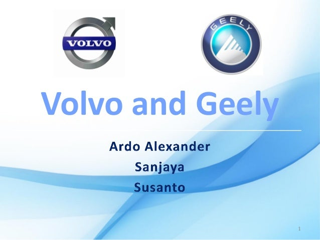 geely and volvo case study