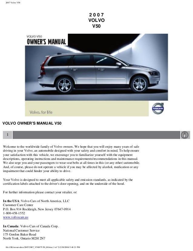 2007 Volvo V50                                                                                  2007                      ...