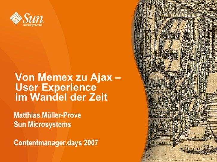 Von Memex zu Ajax