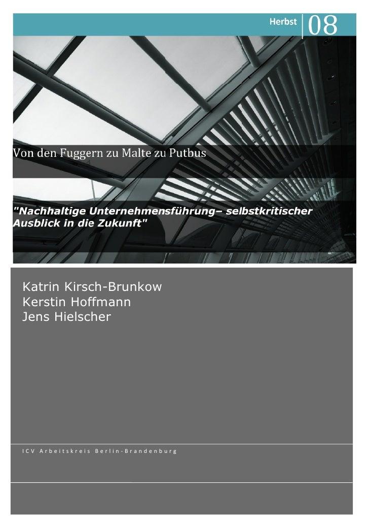 Katrin Kirsch-Brunkow Kerstin Hoffmann Jens Hielscher     ICV Arbeitskreis Berlin-Brandenburg