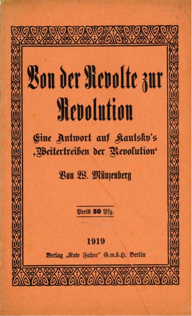 Von der Revolte zur Revolution