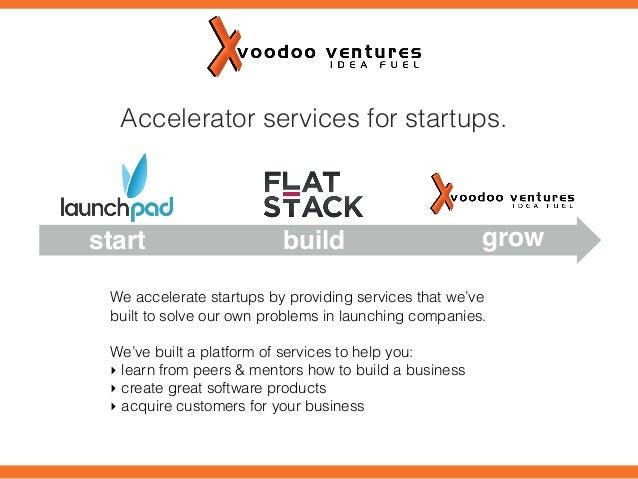 Voodoo Ventures Accelerator Services for Startups
