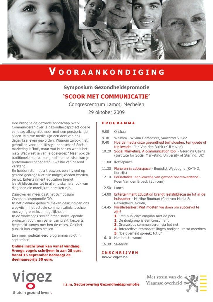 Vooraankondiging Symposium 09