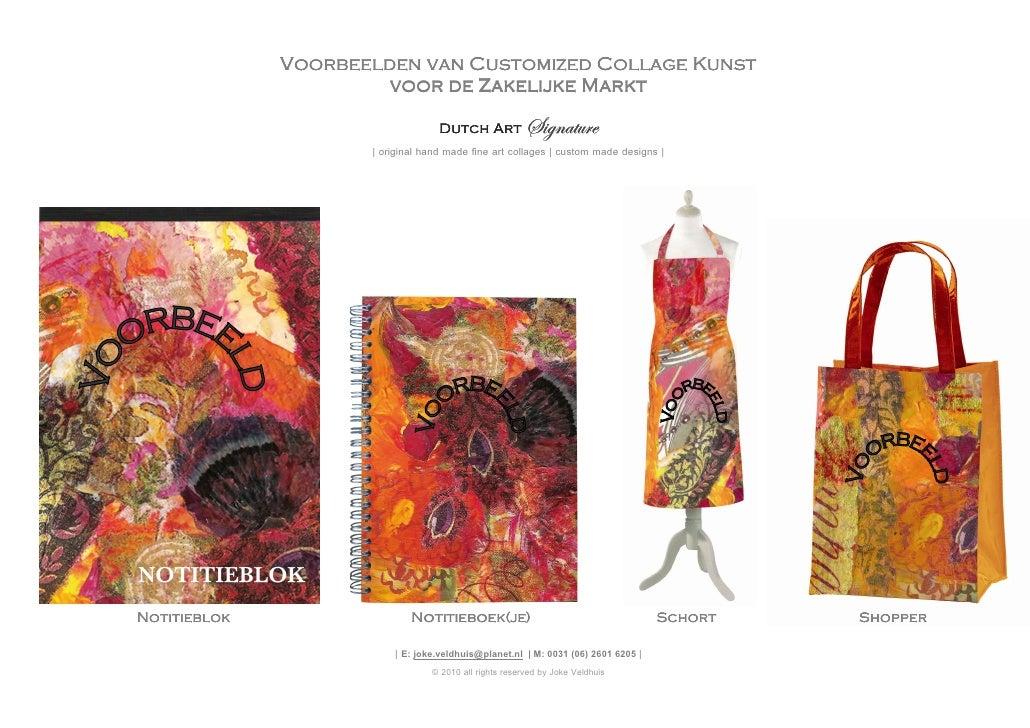 Voorbeelden van Customized Collage Kunst                        voor de Zakelijke Markt                                   ...