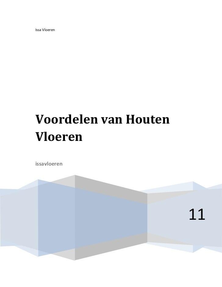Issa VloerenVoordelen van HoutenVloerenissavloeren                       11