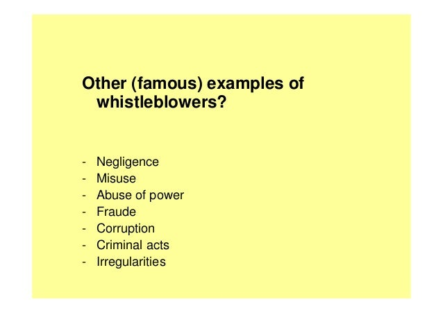 employment at will and whistleblowing essay