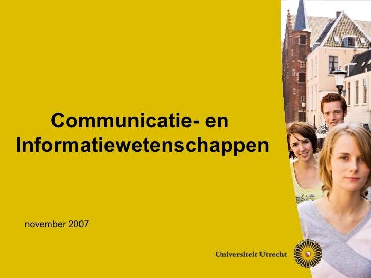 Voorlichting CIW 2007