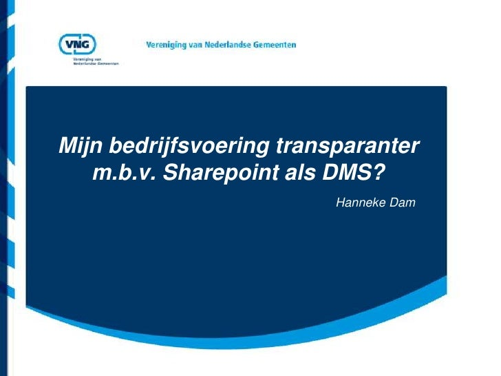 Digitaal kennisdelen, SharePoint als DMS