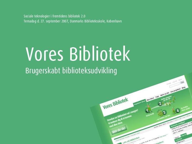 Vores Bibliotek - brugerskabt biblioteksudvikling