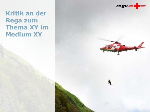 © RegaFolie 1Kritik an derRega zumThema XY imMedium XY
